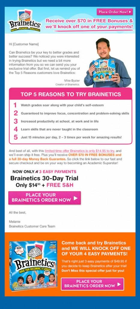 Brainetics email